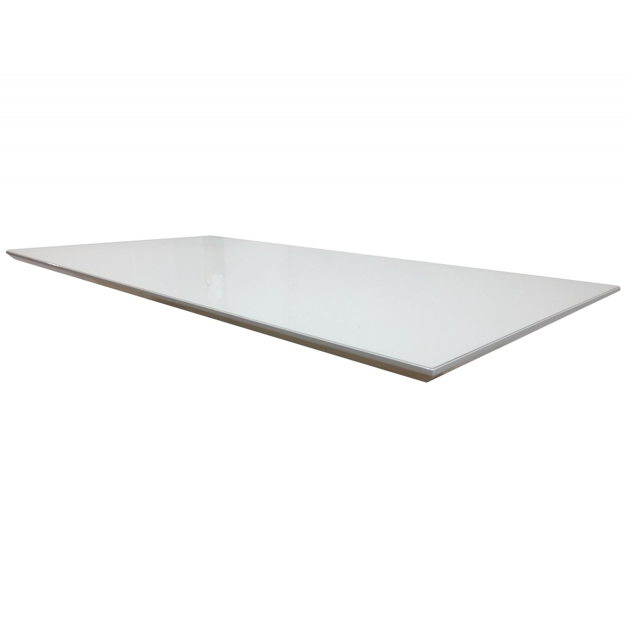 Tampo de MDF Mesa Sala Jantar Laqueado com Vidro 1,2 x 1,2 m