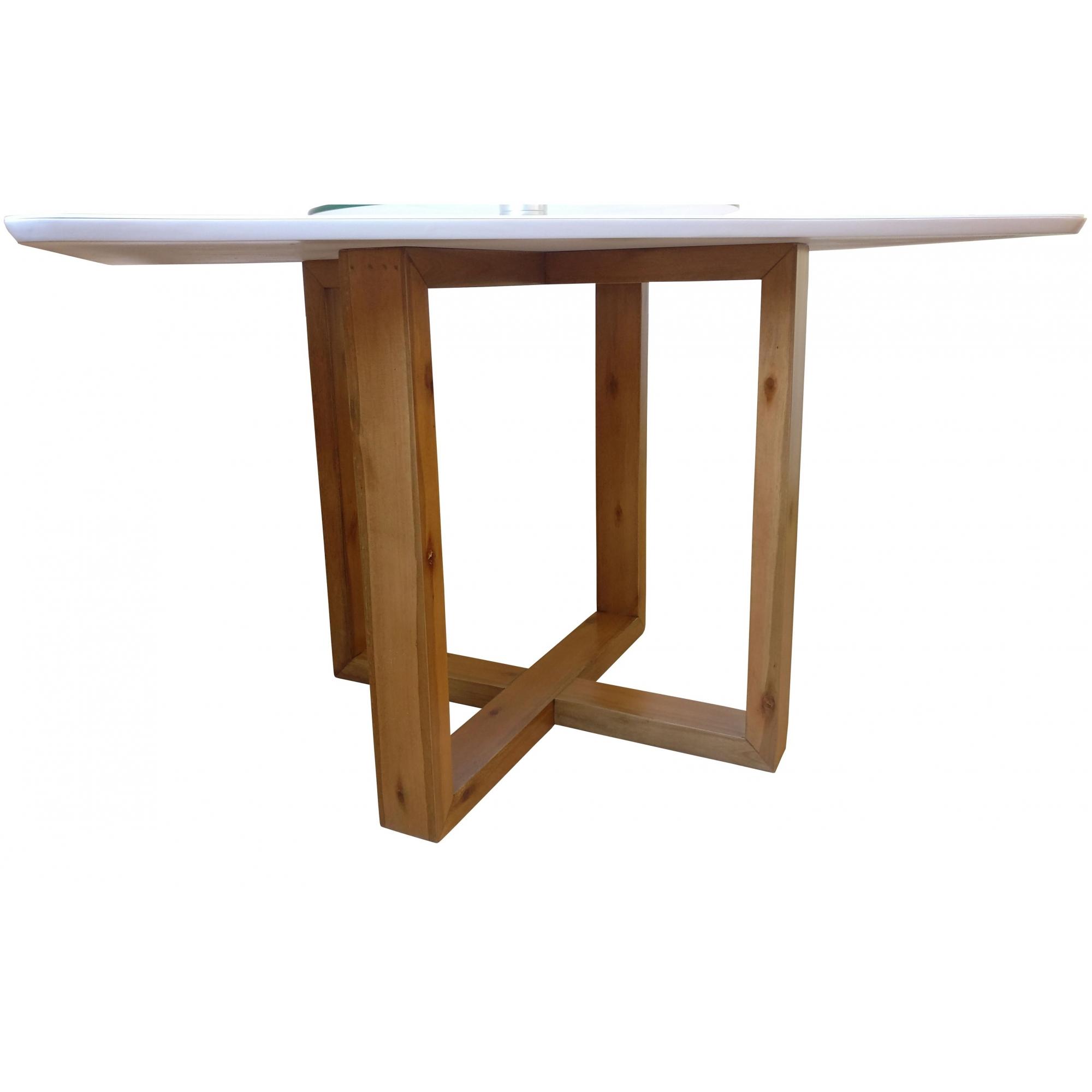 Tampo de Mesa para Sala Jantar Laqueado 1,1x0,8m Canto Copo