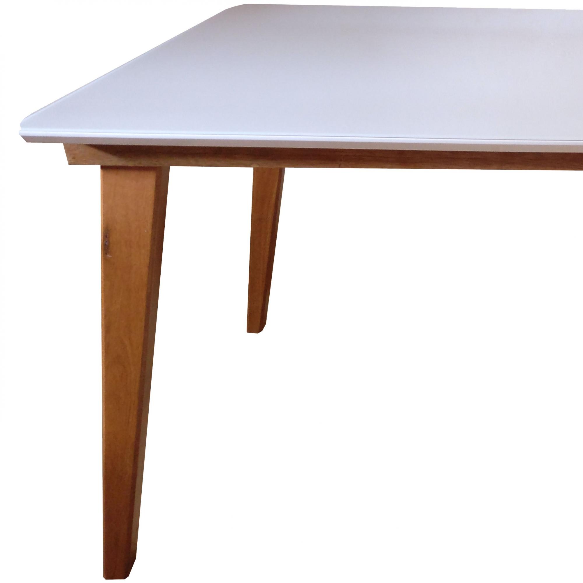 Tampo de Mesa para Sala Jantar Laqueado 1,4x0,9m Canto Copo