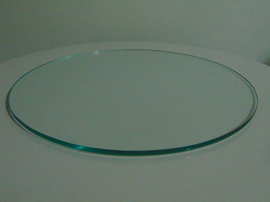Tampo para Mesa de Vidro 8mm Decorativo Prato Temperado 60cm