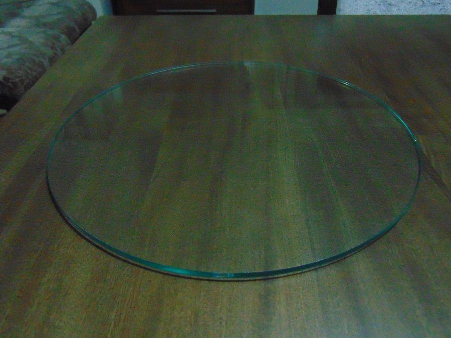 Tampo para Mesa de Vidro 8mm Decorativo Prato Temperado 80cm