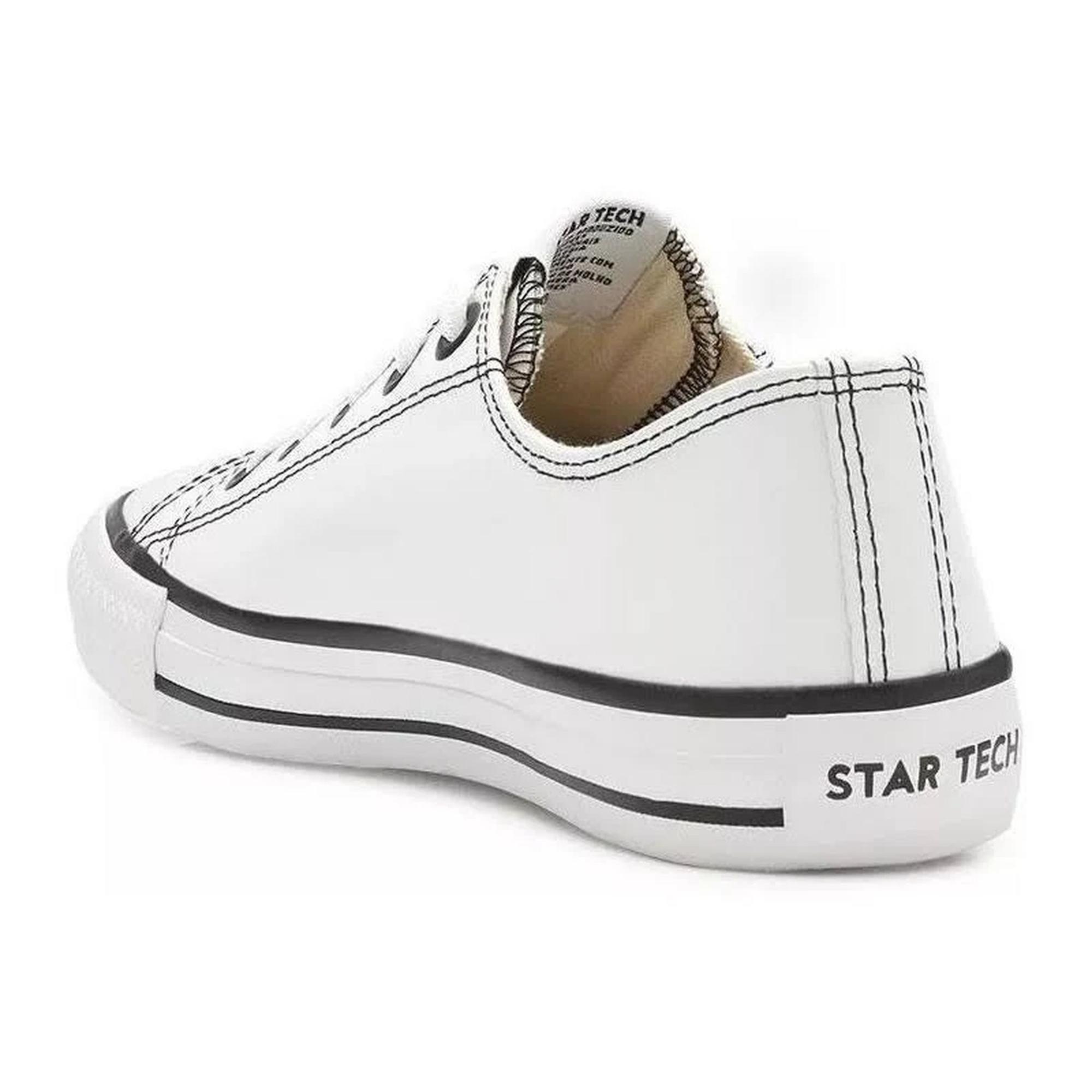 Tênis Street Star Couro Low Feminino St0142 Novo NF