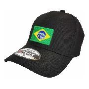 Boné Bordado Bandeira Do Brasil - Brasileira Pequena