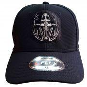 Boné Bordado Simbolo Seals USA Marinha Eua Fechado Preto