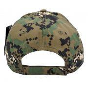 Boné Caveira Militar Americana Forças Armadas EUA USA Camuflado Digital