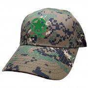Boné Estrela U.S. Army Exercito EUA Simbolo USA Army Bordado Militar Camuflado Digital