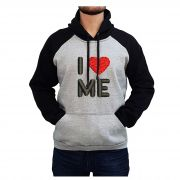 Moletom Masculino Bordado Eu Me Amo Coracao I Love Me