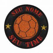 Patch Bordado - Bola Futsal Personalizado Seu Nome