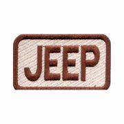 Patch Bordado - Logo Jeep Marrom Escrito Retangular AD30055-264