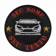 Patch Bordado - Seu Nome simbolo Personalizado Carro