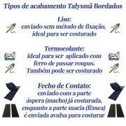 Patch Bordado - Tarja Personalizada Nome Texto Ingresso VIP