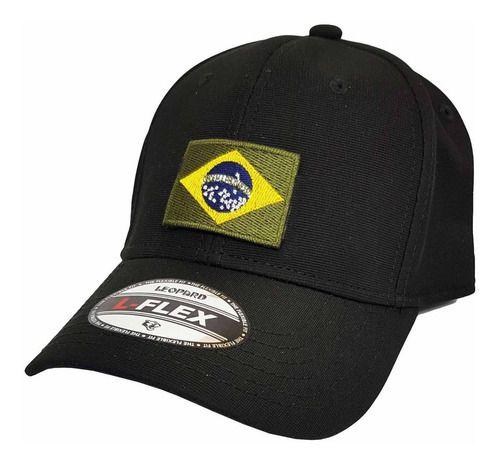 Boné Bordado Bandeira Do Brasil Militar - Brasileira Pequena  - Talysmã Bordados