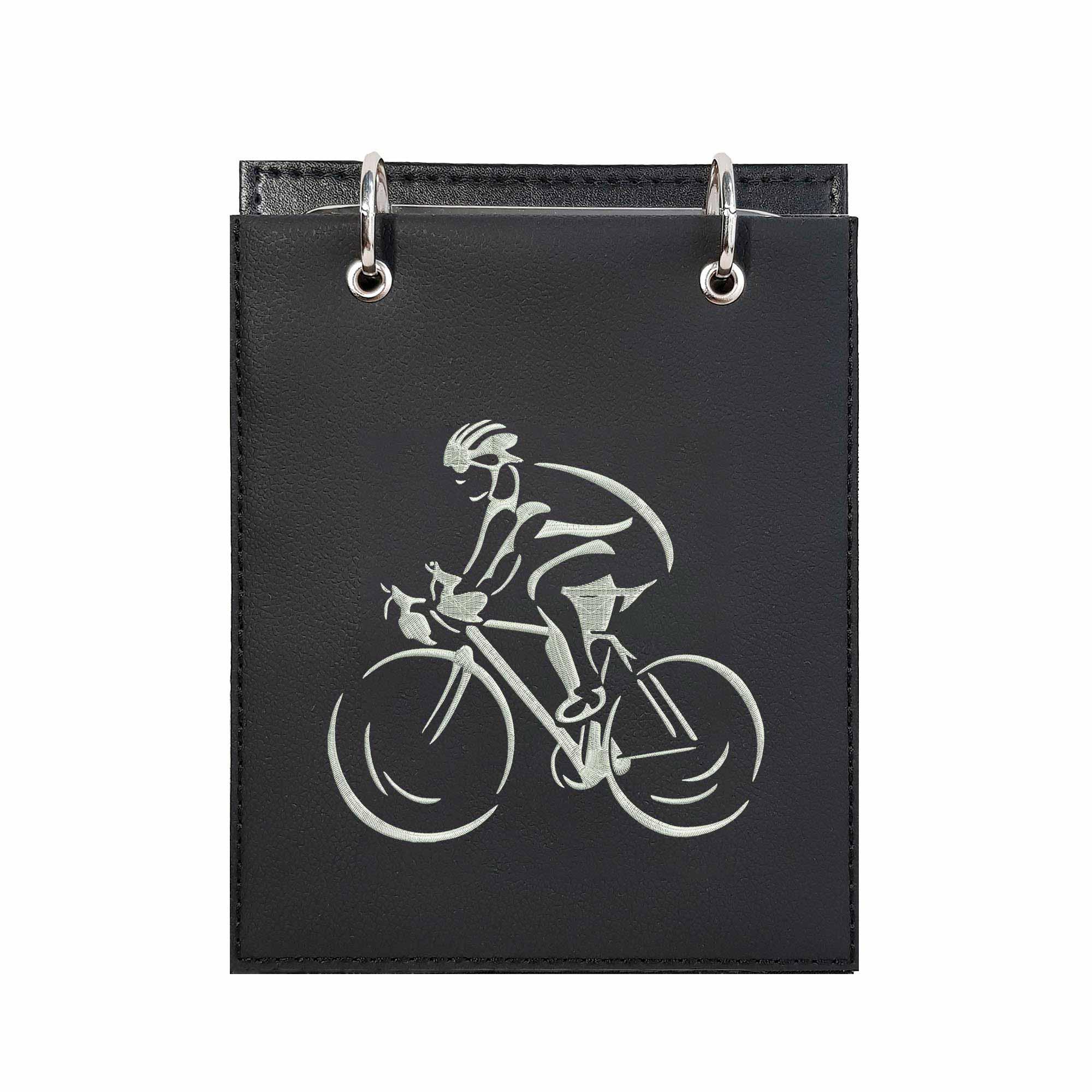 Bloco Bordado de Mesa Notas Ciclista Ciclismo Speed  - Talysmã Bordados