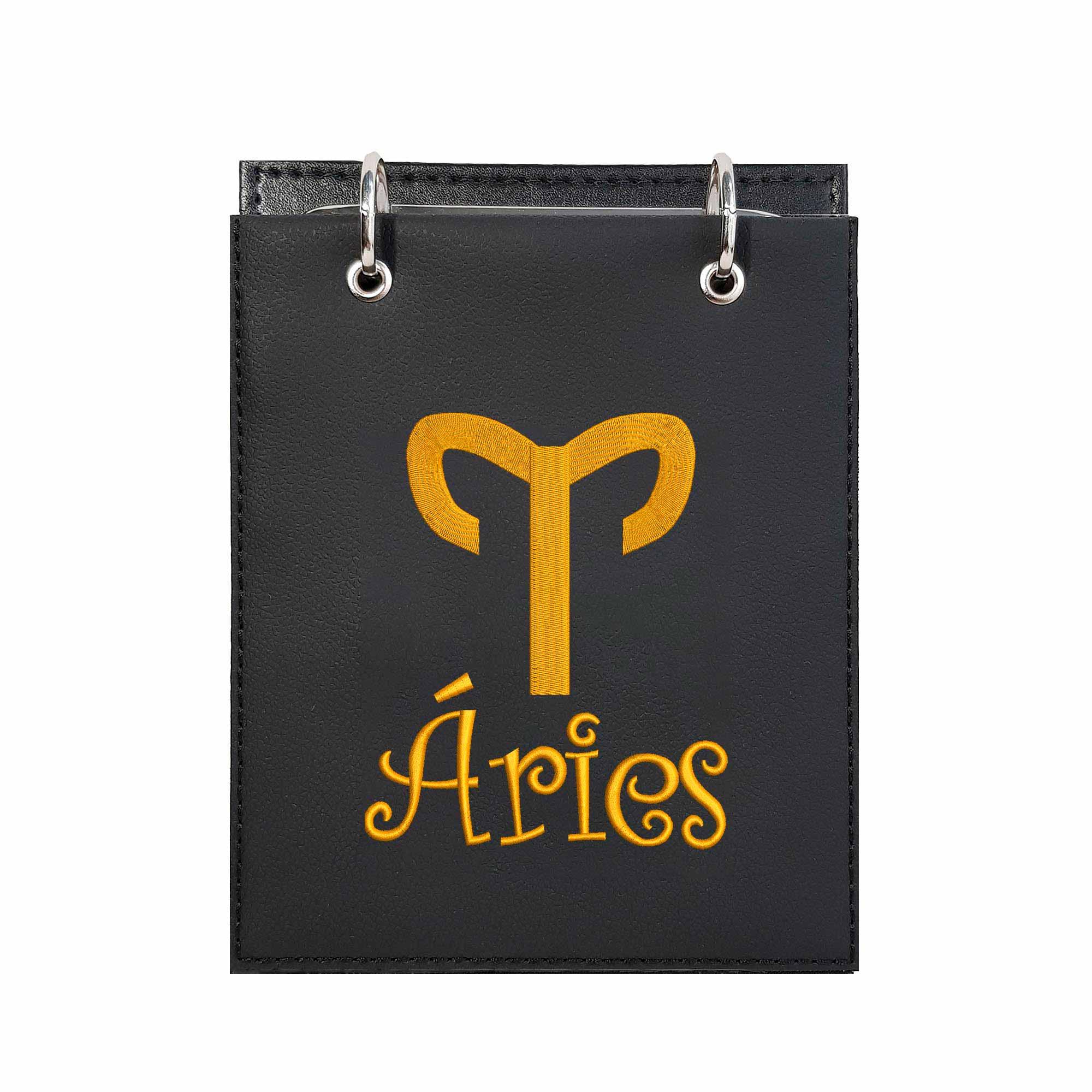 Bloco Bordado de Mesa Notas Simbolo Signo Aries  - Talysmã Bordados