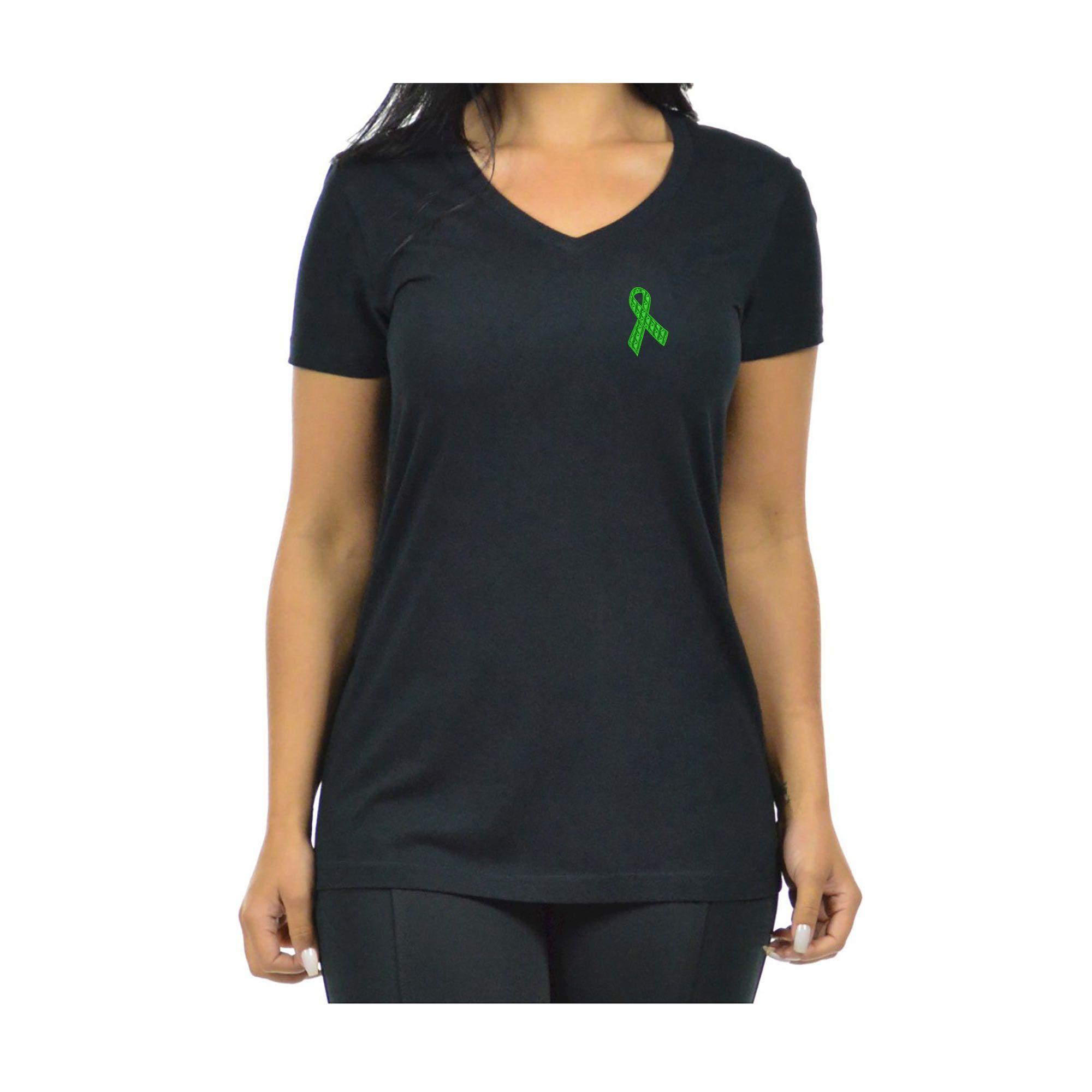 Blusa Feminina Bordada Laço Setembro Verde Doação de Órgãos Heróis do Bem  - Talysmã Bordados