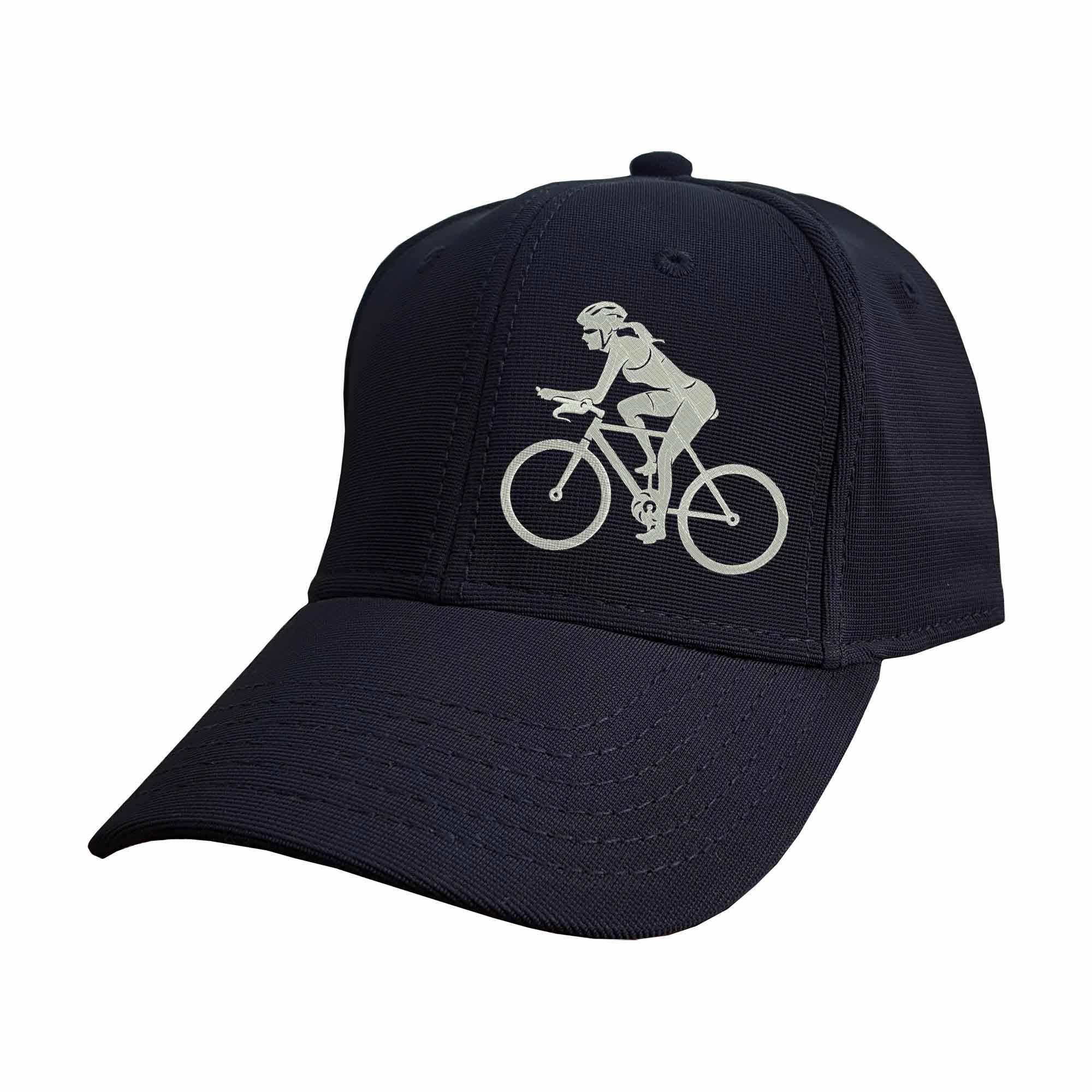 Boné Bordado Ciclismo Feminino Mulher Ciclista  - Talysmã Bordados