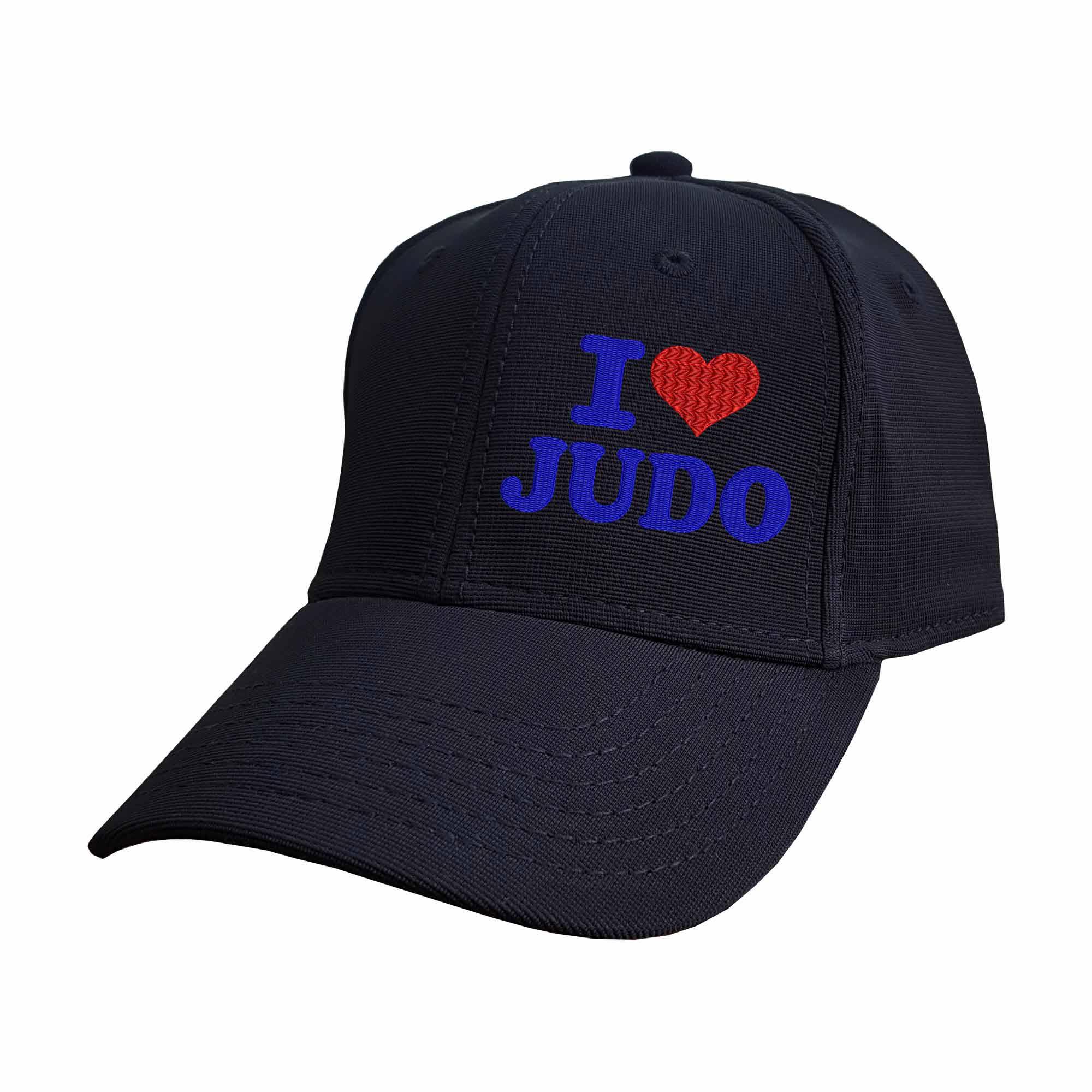 Boné Bordado Eu Amo Judo I Love Judo Coração  - Talysmã Bordados