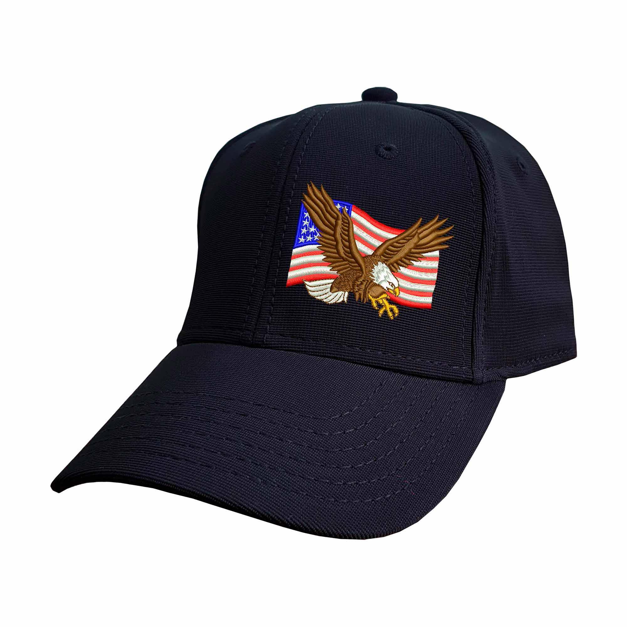 Boné Bordado Fechado Bandeira Eua Aguia Americana USA  - Talysmã Bordados