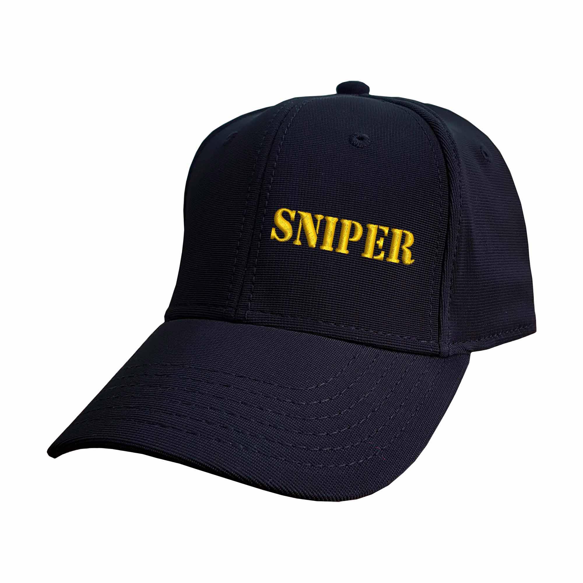 Boné Bordado Fechado Escrito Sniper  - Talysmã Bordados
