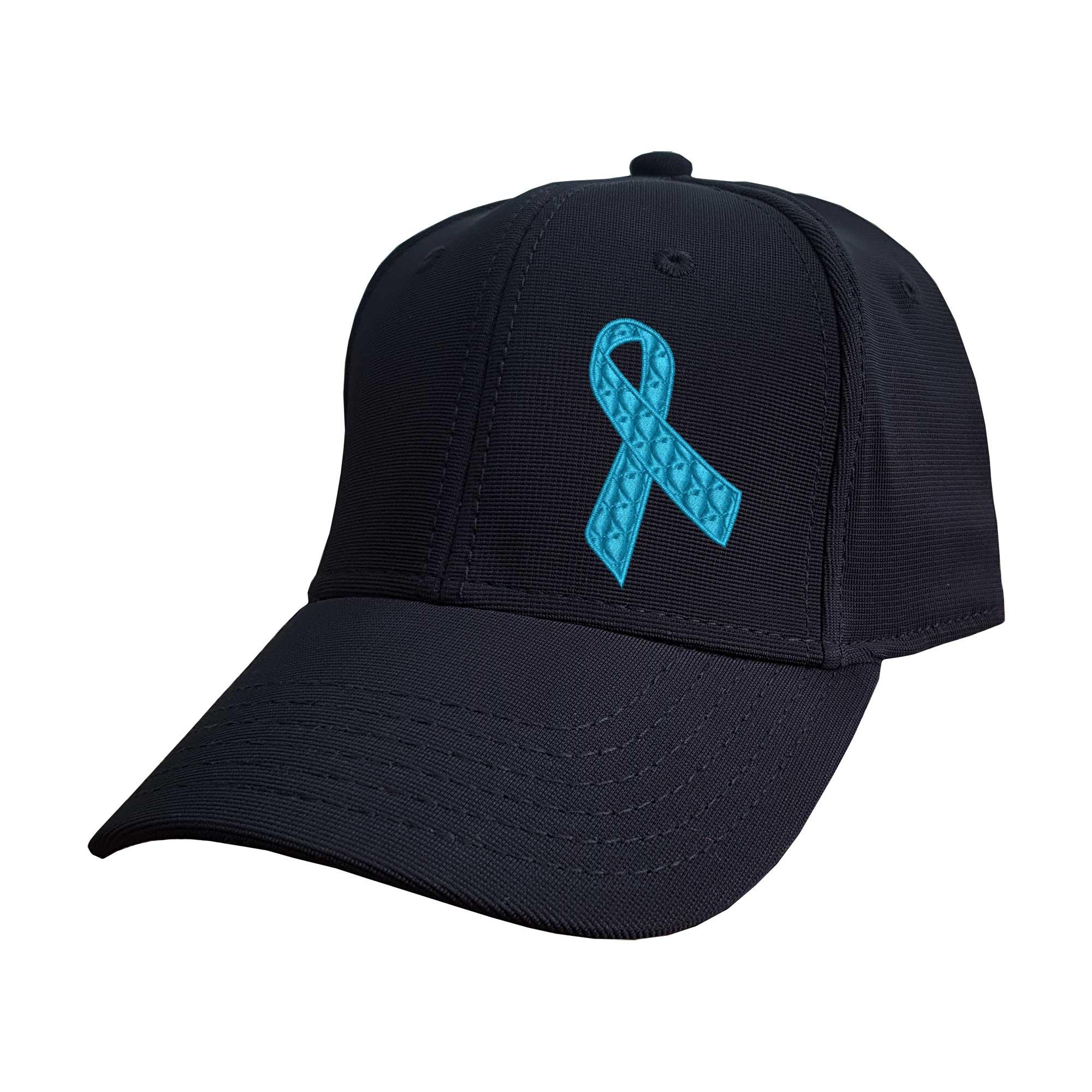 Boné Bordado Laço Novembro Azul Câncer de Próstata Heróis do Bem  - Talysmã Bordados