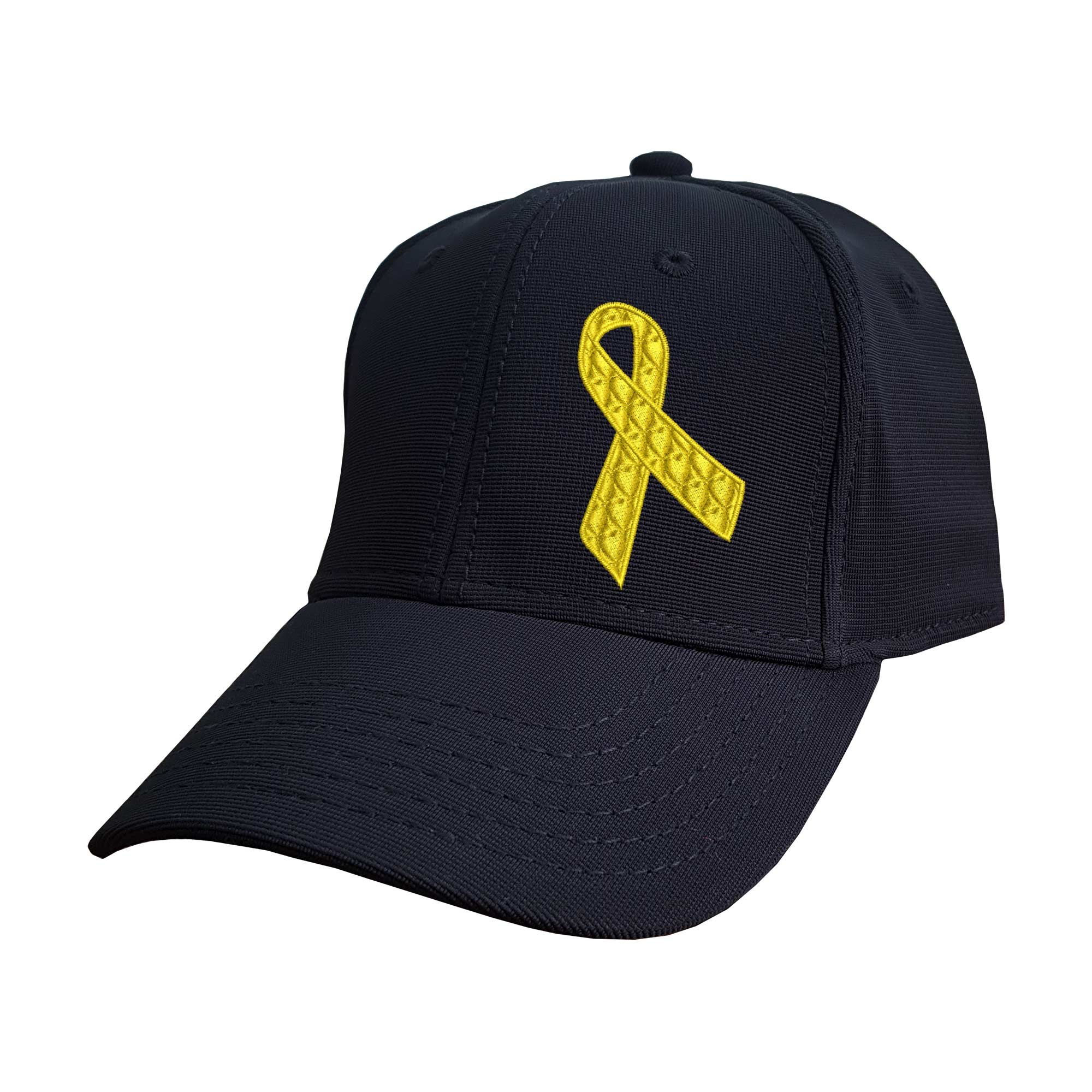 Boné Bordado Laço Setembro Amarelo Câncer Infantil e Suicídio Heróis do Bem  - Talysmã Bordados