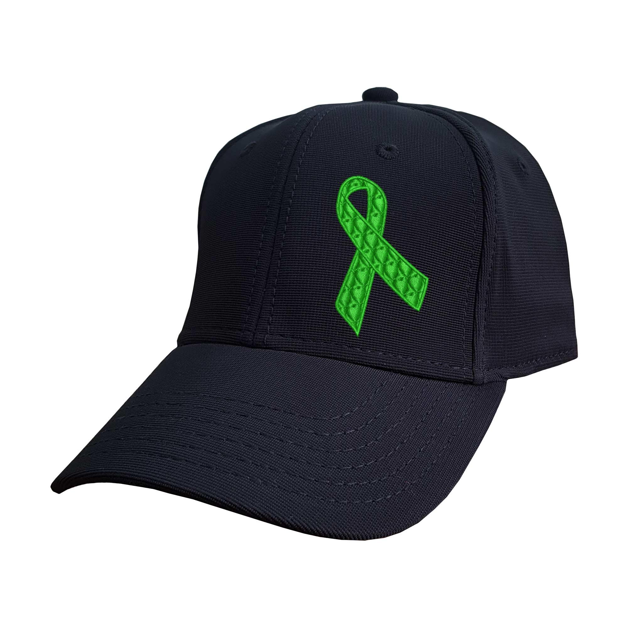 Boné Bordado Laço Setembro Verde Doação de Órgãos Heróis do Bem  - Talysmã Bordados