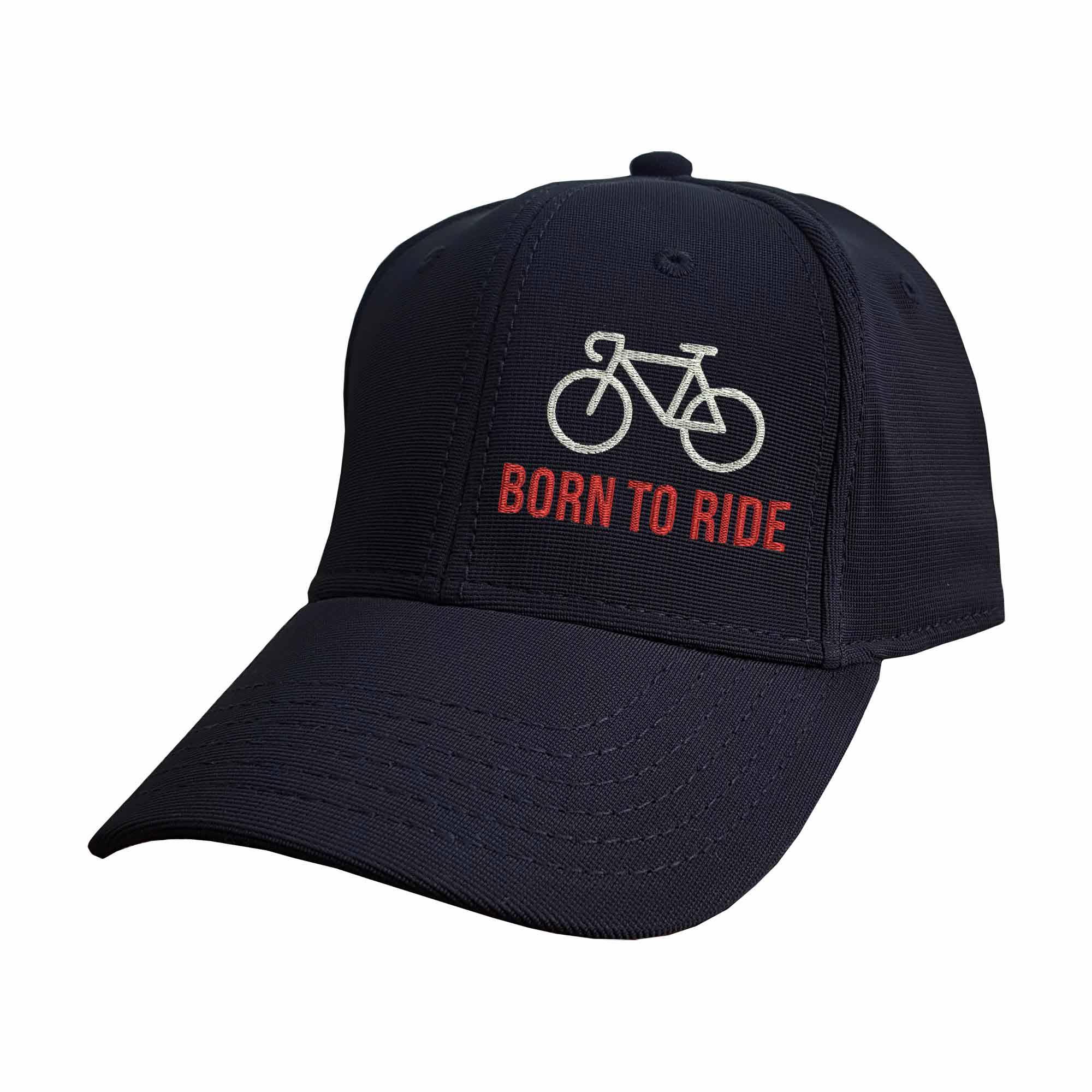 Boné Bordado Nascido Para Pedalar Ciclista Bike  - Talysmã Bordados