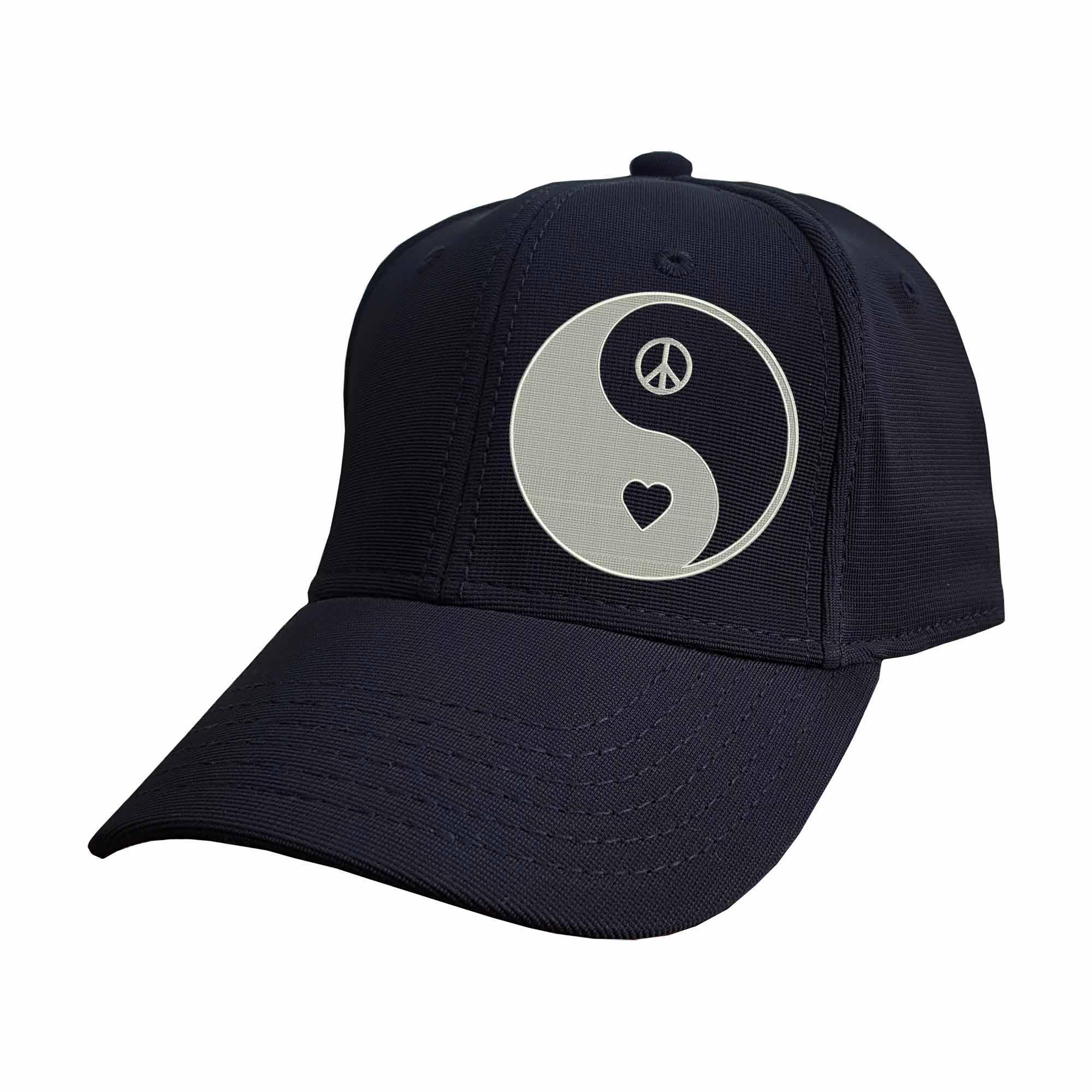 Boné Bordado Yin Yang Paz e Amor Equilibrio  - Talysmã Bordados