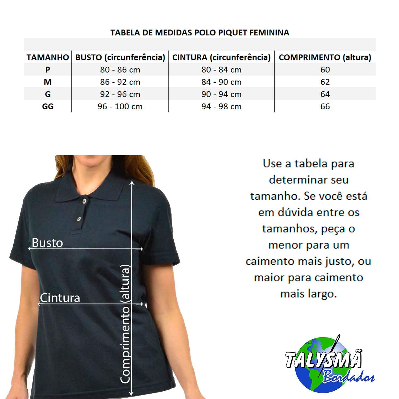 3f3fa4e94211 ... Camisa Polo Feminina Logo Simbolo Curso Marketing Bordado - Talysmã  Bordados