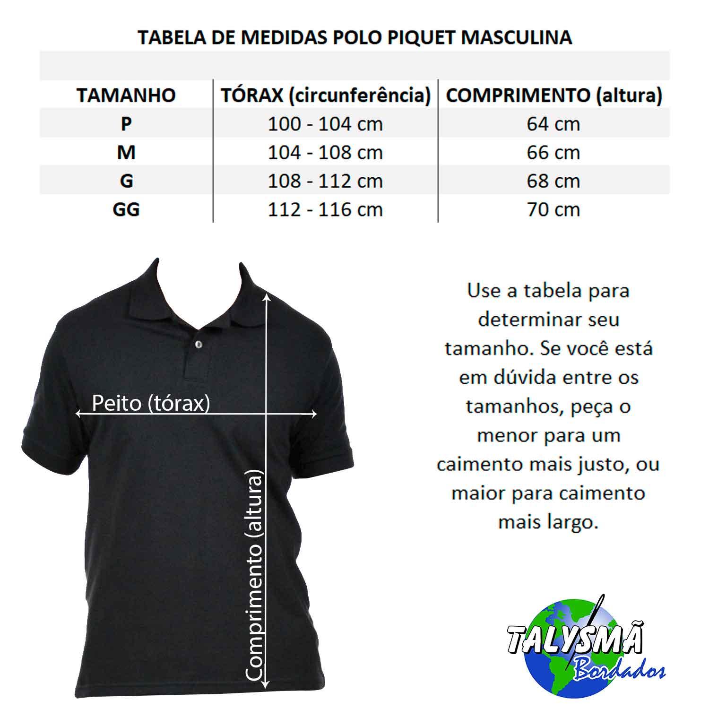 6ca9de509bda ... Camisa Polo Masculina Logo Simbolo Curso Turismo Bordado - Talysmã  Bordados