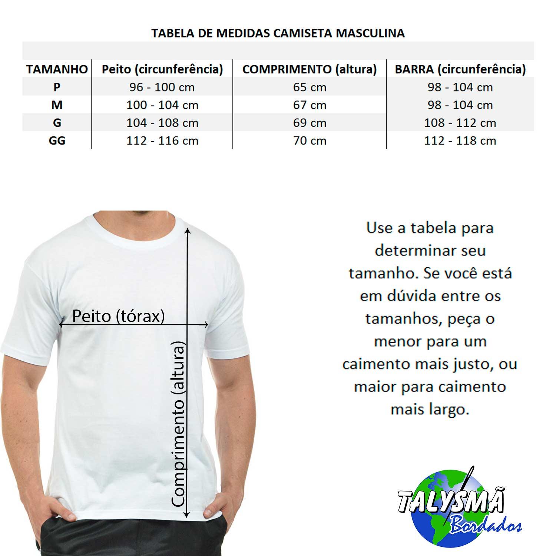 Camiseta Bordada Masculina Laço Autismo Heróis do Bem  - Talysmã Bordados