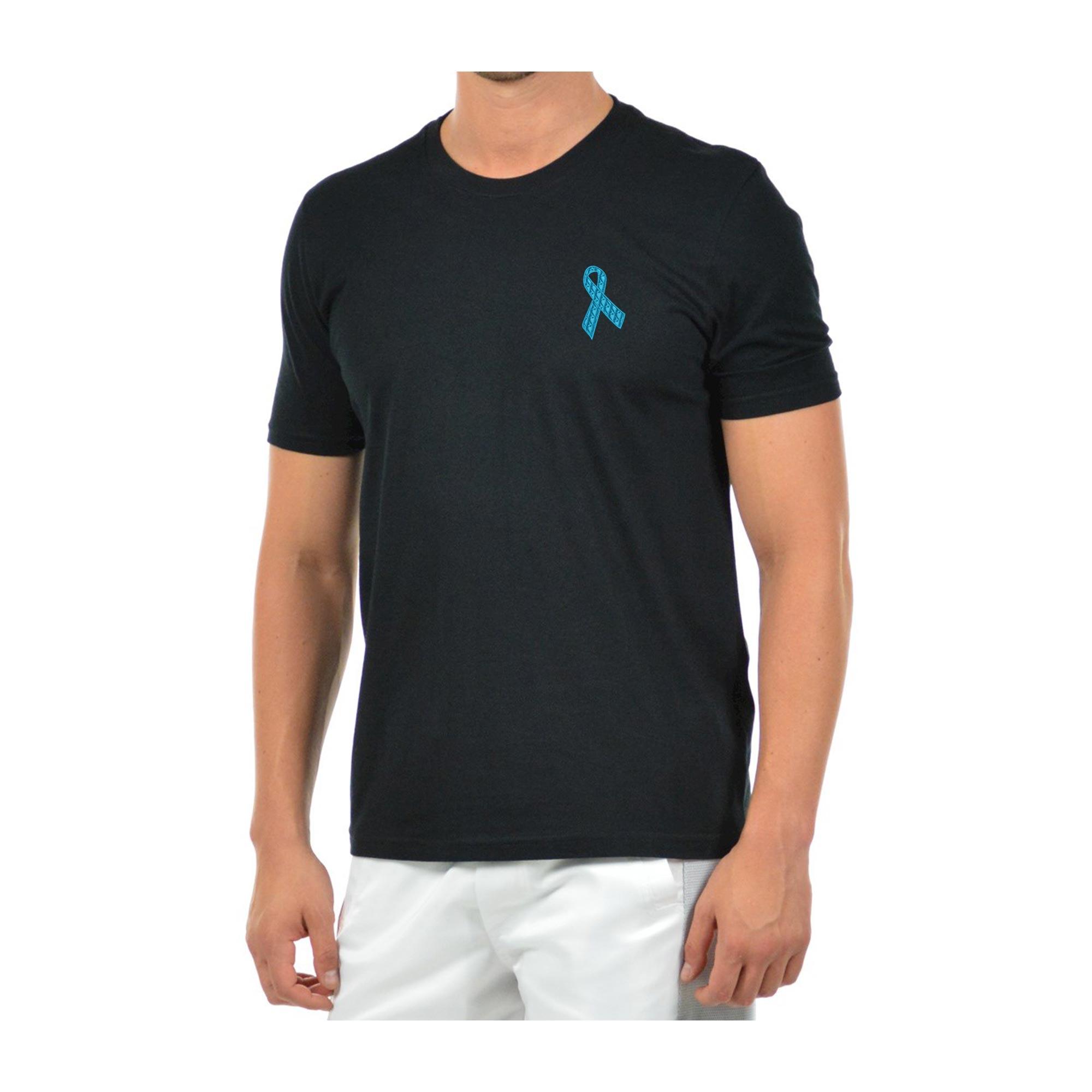 Camiseta Bordada Masculina Laço Novembro Azul Câncer Próstata Heróis do Bem  - Talysmã Bordados