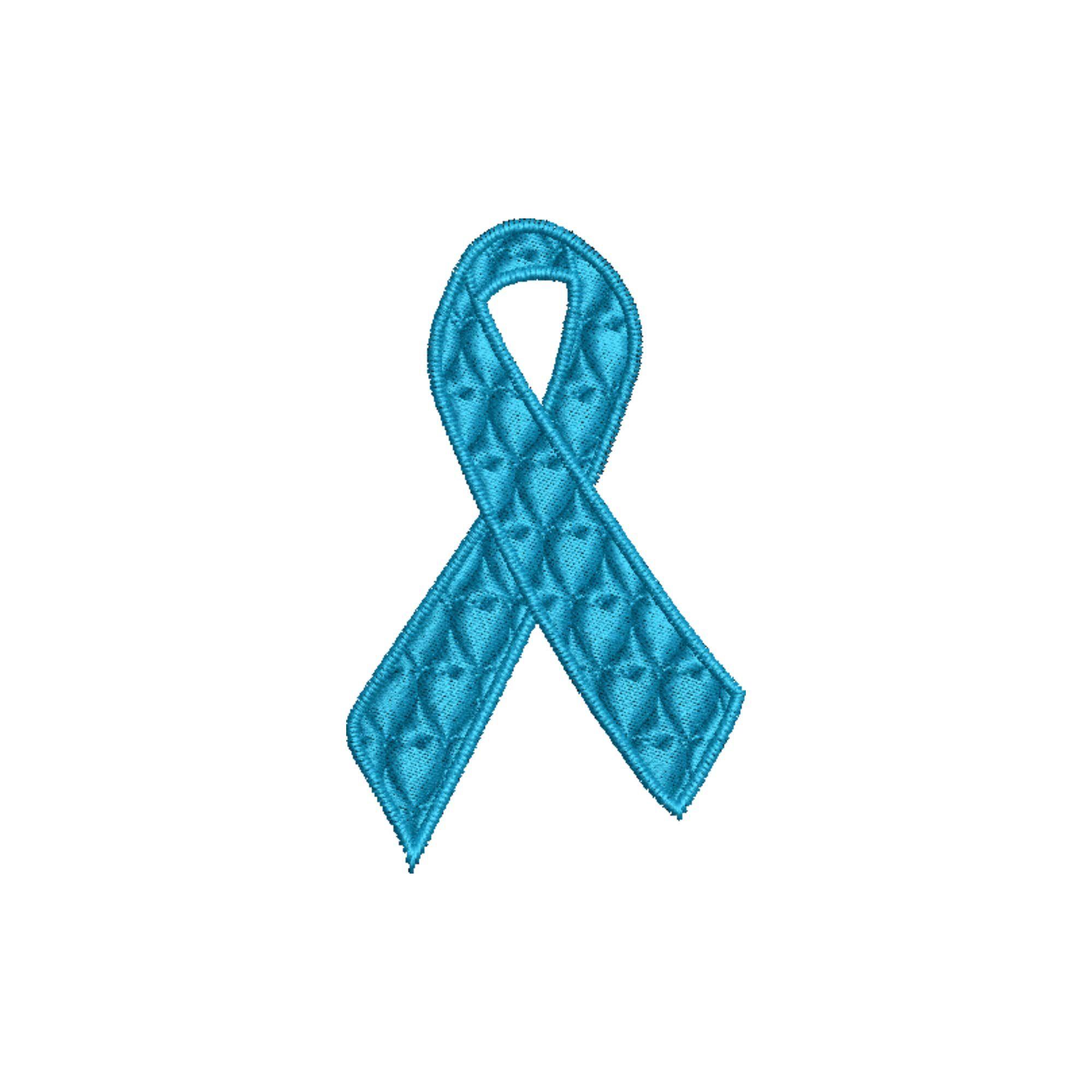 Laço Novembro Azul 6 cm Câncer Próstata Heróis do Bem  - Talysmã Bordados