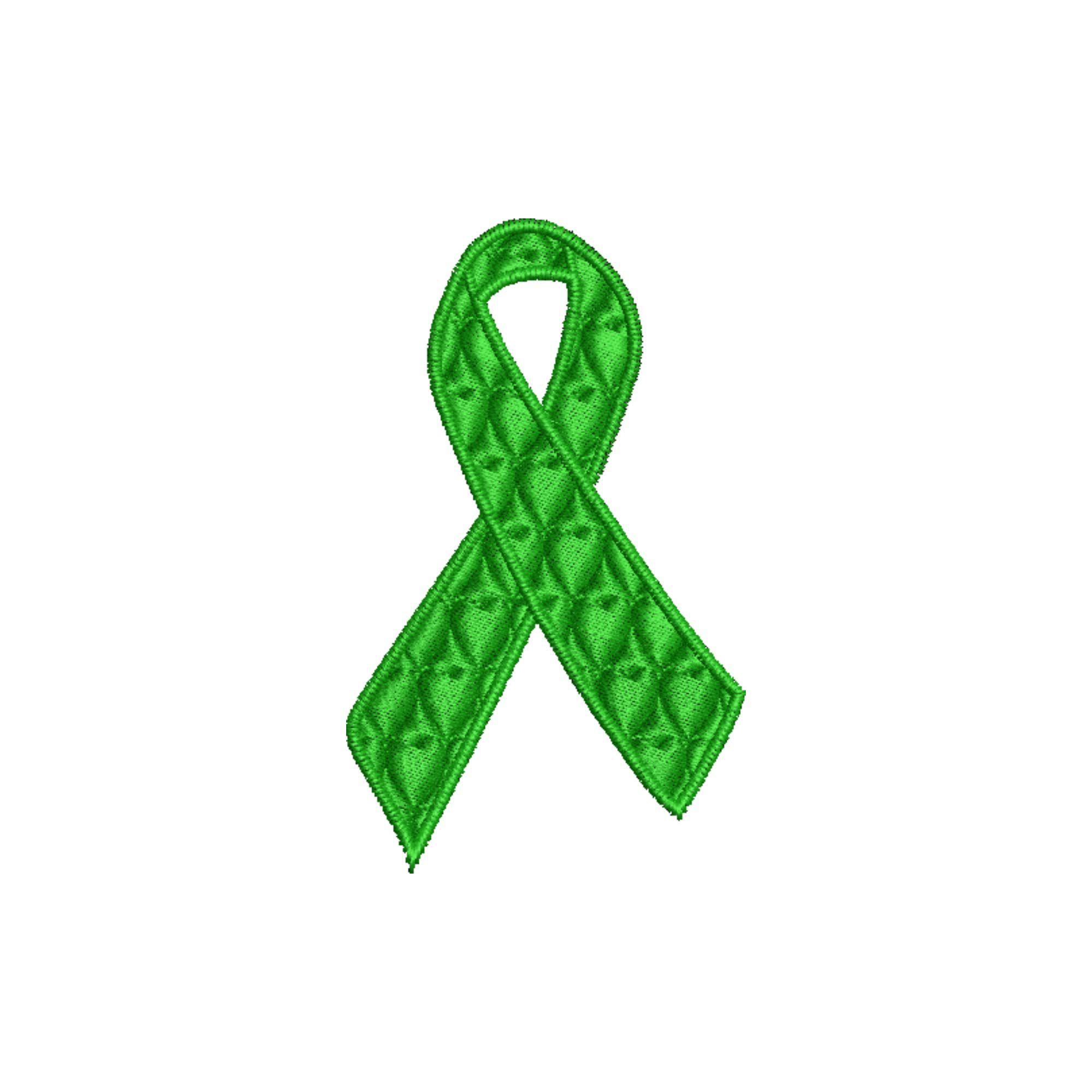 Laço Setembro Verde 6 cm Doação Orgãos Heróis do Bem  - Talysmã Bordados