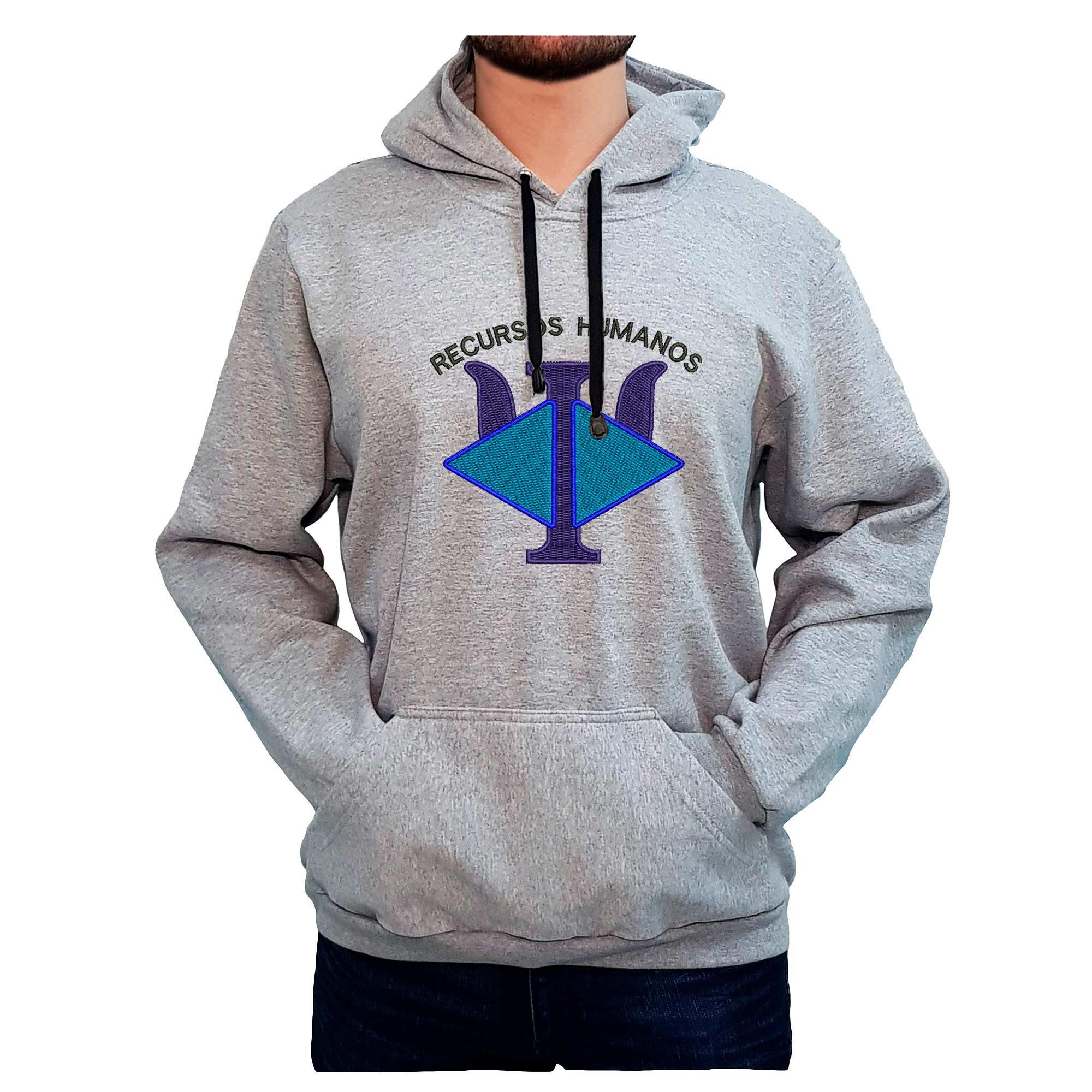 Moletom Bordado Masculino Logo Simbolo RH Recursos Humanos  - Talysmã Bordados