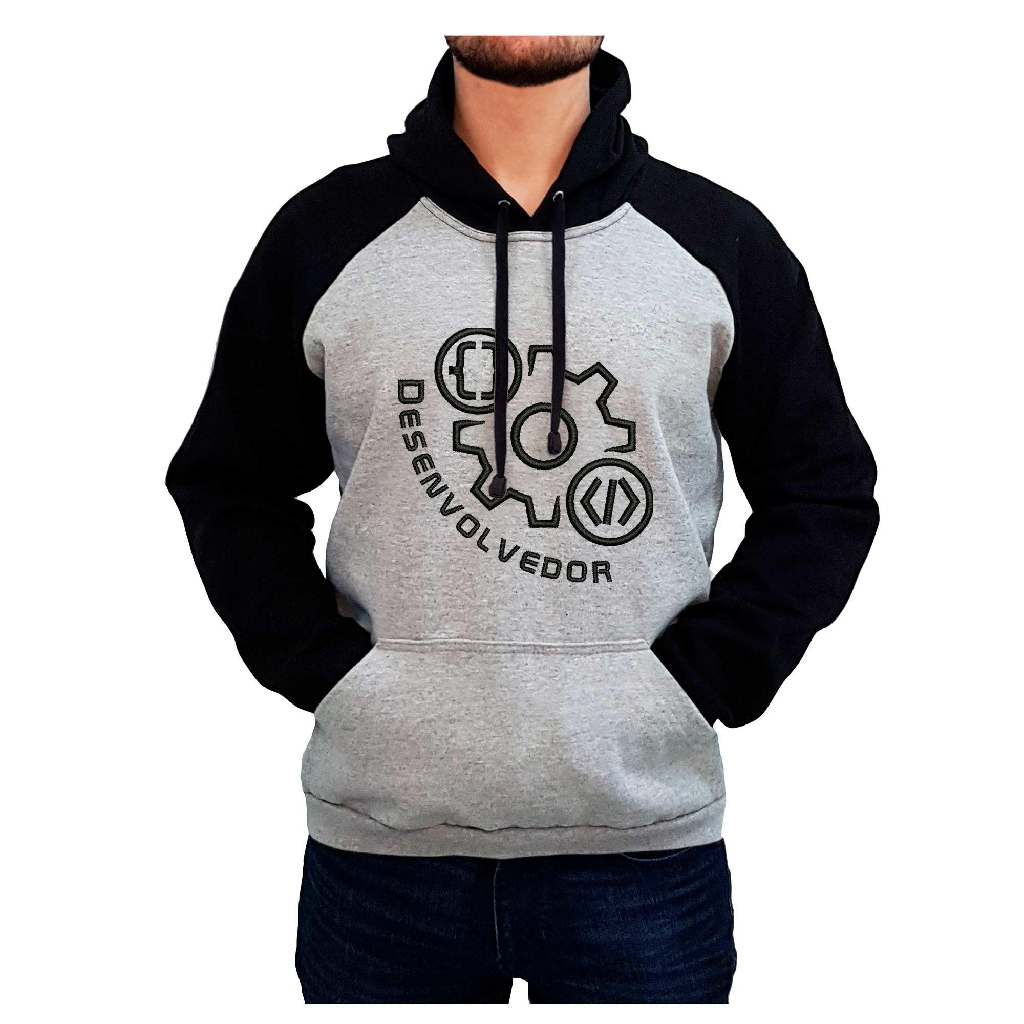 Moletom Bordado Masculino Simbolo Logo Desenvolvedor Programador  - Talysmã Bordados