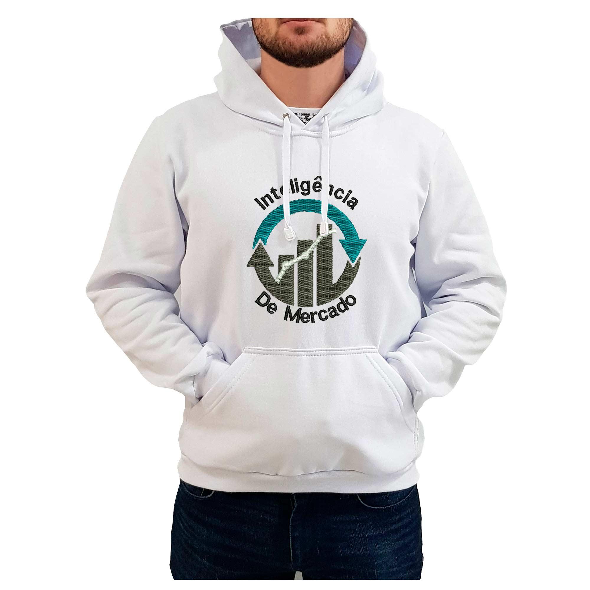 Moletom Bordado Masculino Simbolo Logo Inteligencia de Mercado  - Talysmã Bordados
