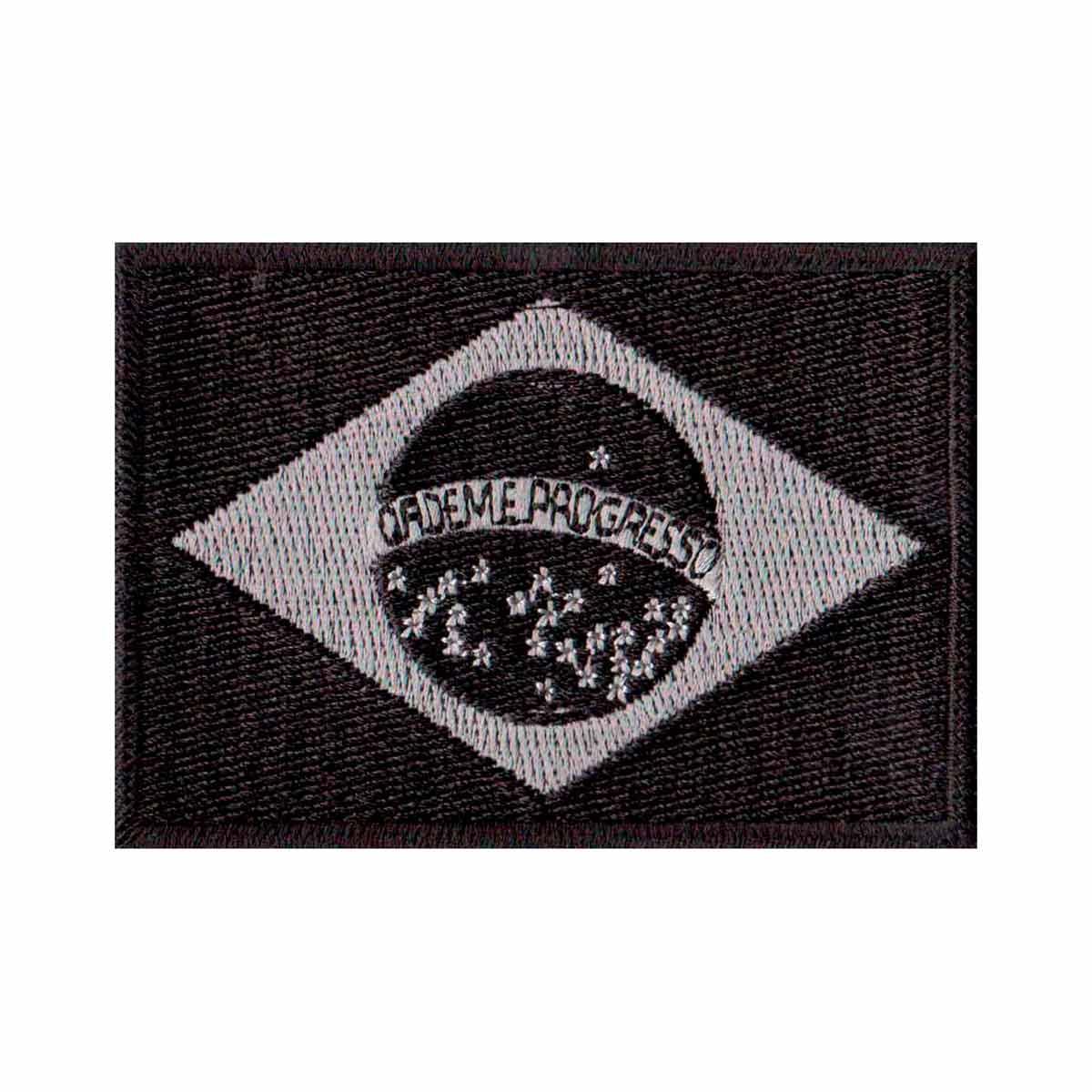 Patch Bordado - Bandeira Brasil Negativa BD50046-109  - Talysmã Bordados