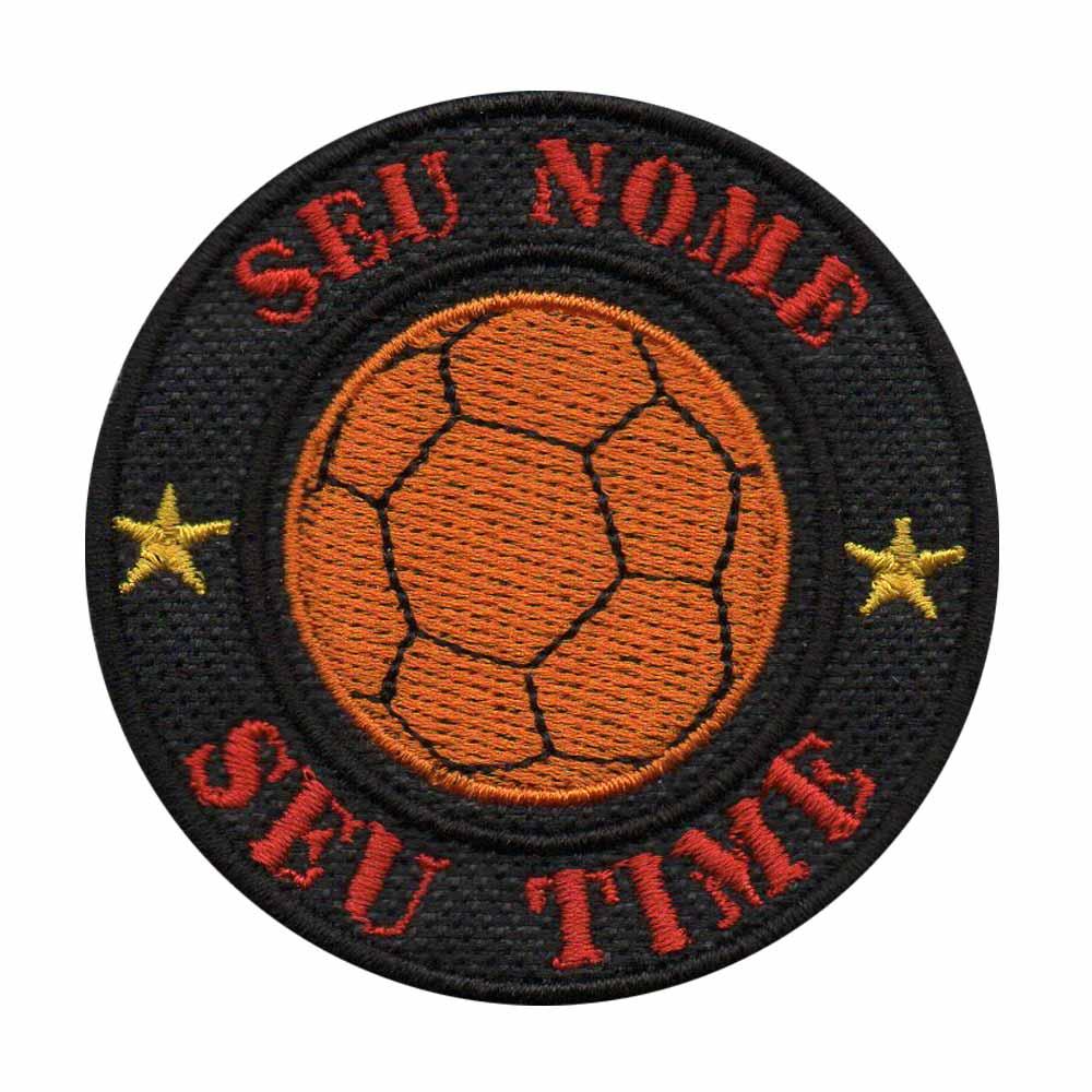 Patch Bordado - Bola Futsal Personalizado Seu Nome  - Talysmã Bordados
