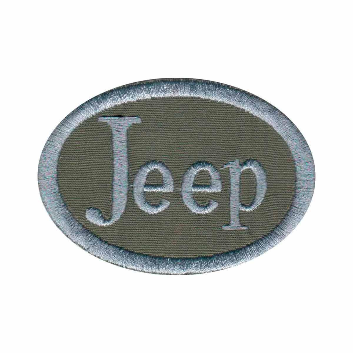 Patch Bordado - Brasão Jeep Militar Vintage AD30056-263  - Talysmã Bordados