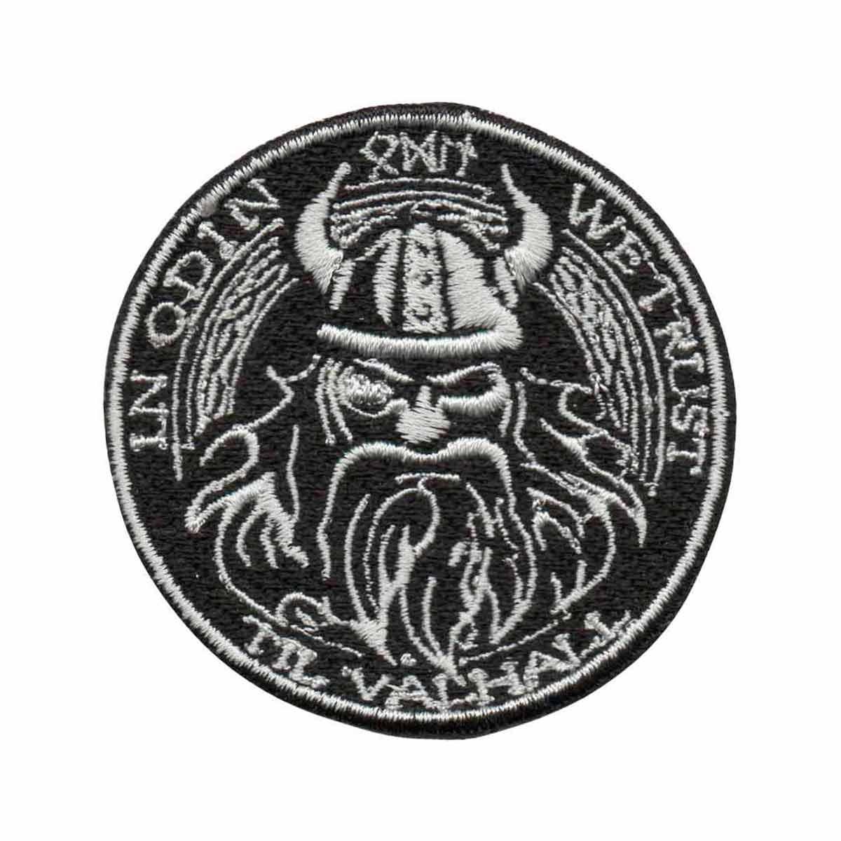 Patch Bordado - Deus Nórdico Guerra Viking Odin DV80804-48  - Talysmã Bordados