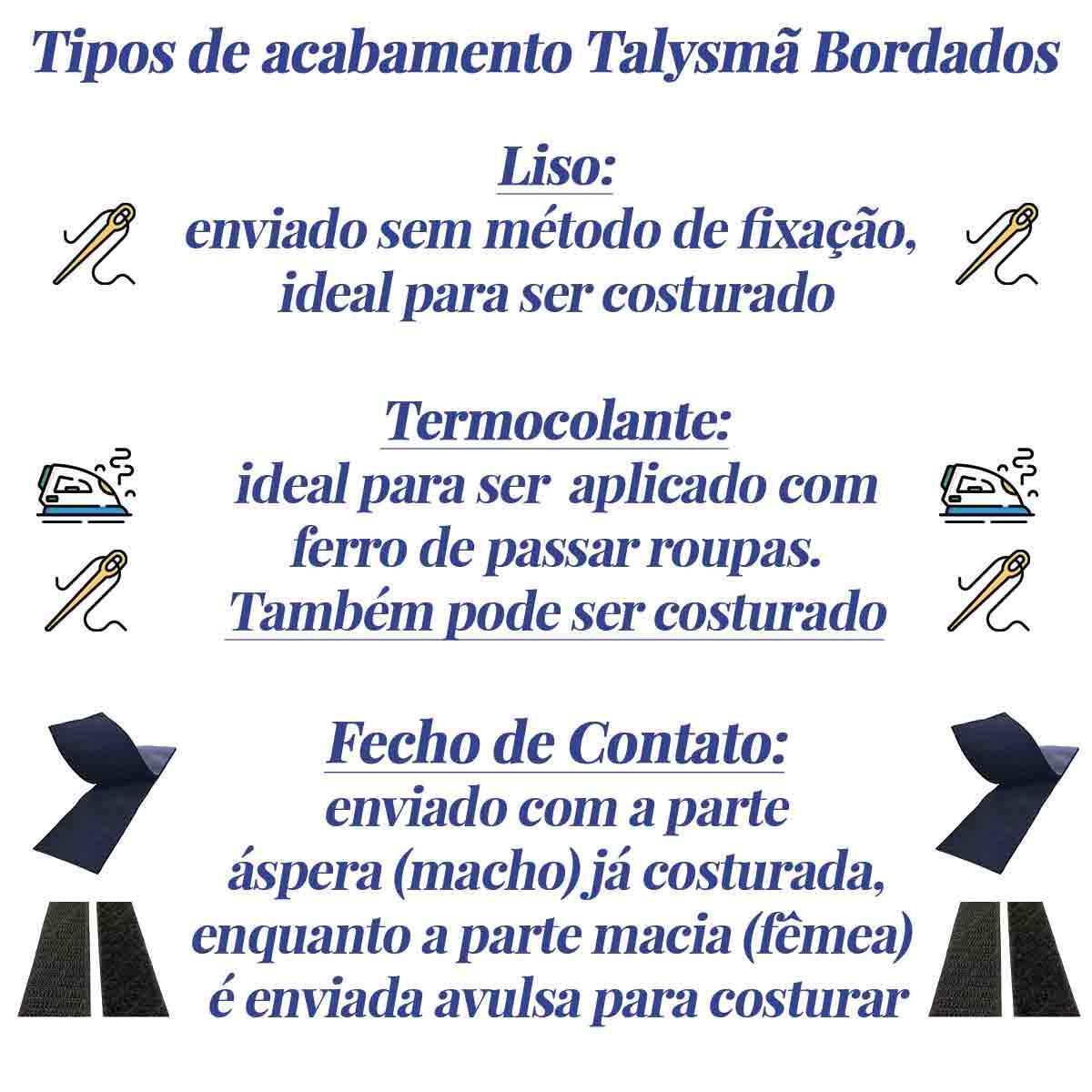 Patch Bordado - Letras Alfabeto Letra x DV80537-419  - Talysmã Bordados