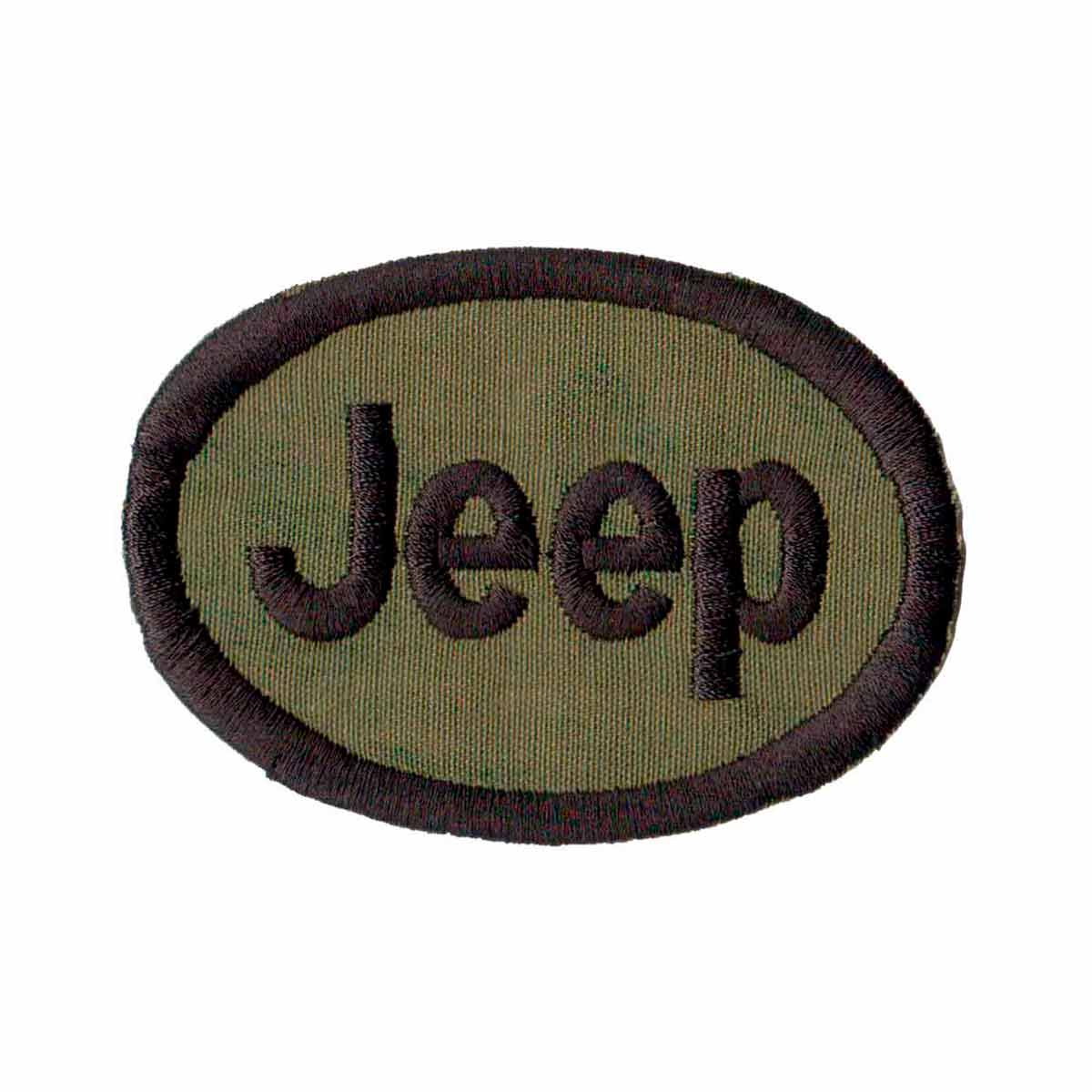 Patch Bordado - Logo Jeep Brasao Vintage Verde AD30023-05  - Talysmã Bordados