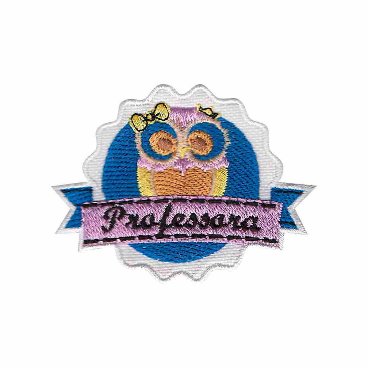 Patch Bordado - Símbolo Logo Coruja Professora Escolar AP00088-274  - Talysmã Bordados
