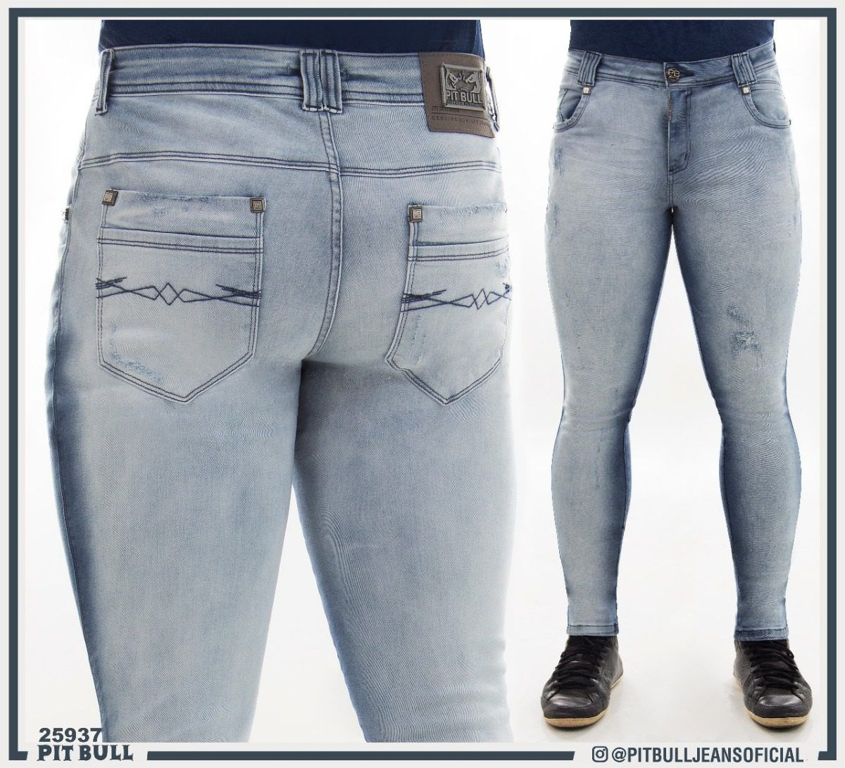d72d36464 Calca masculina super slim Pit Bull Jeans Ref. 25937