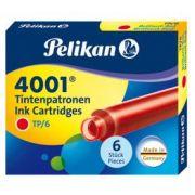 Cartucho de Tinta Pelikan 4001 TP/6 Vermelho