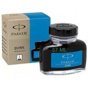 Vidro de tinta Parker azul lavável original para caneta tinteiro 57 ml