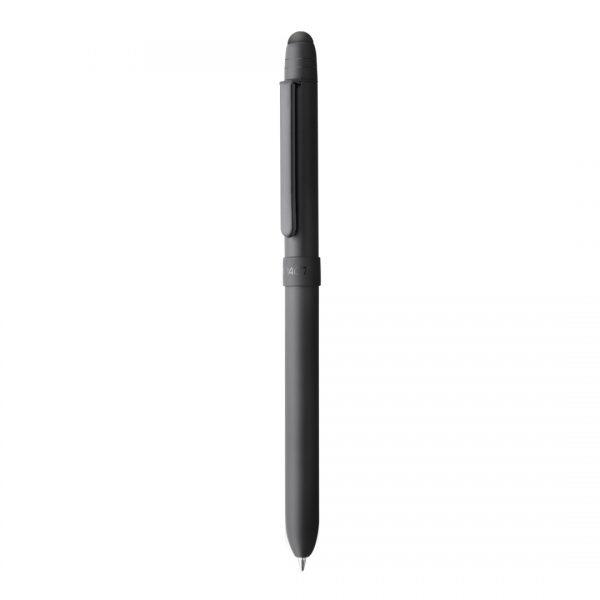 Caneta Compactor Tri Pen Metallic Preta Fosca
