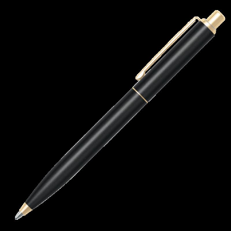 Caneta Sheaffer Sentinel Preta Esferográfica Matte e Dourada GT