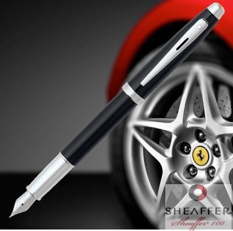 Caneta Sheaffer Gift 100 Ferrari, Tinteiro Laca Negra CT